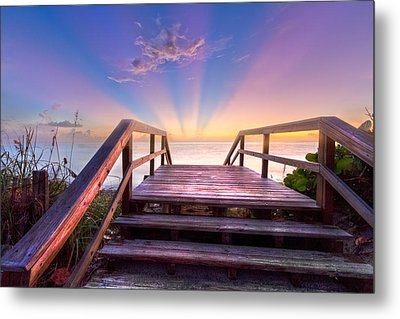 Beach Dreams Metal Print by Debra and Dave Vanderlaan