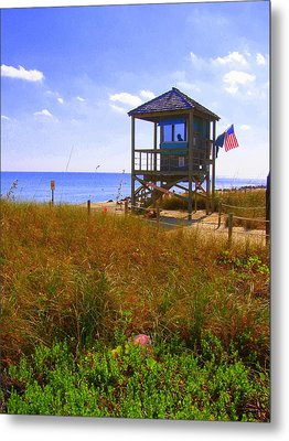 Metal Print featuring the photograph Beach Duty by Artists With Autism Inc
