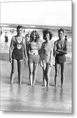 Beach Fashion Parade Winners Metal Print by Underwood Archives