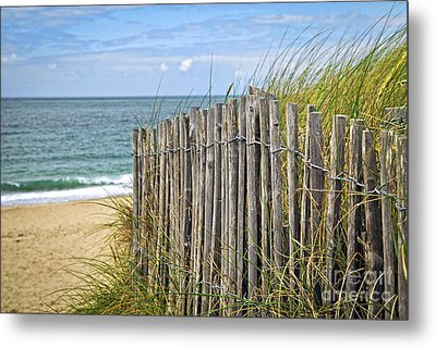Beach Fence Metal Print