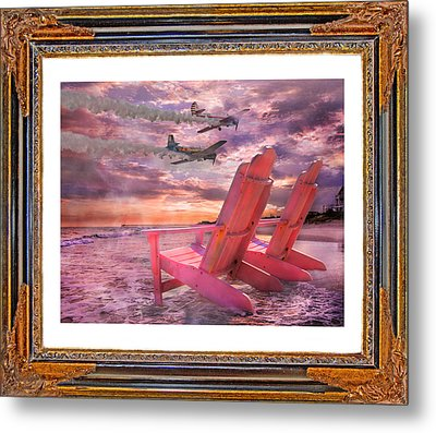 Beach Flight II  Metal Print by Betsy Knapp