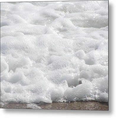 Metal Print featuring the photograph Beach Foam by Cathy Lindsey