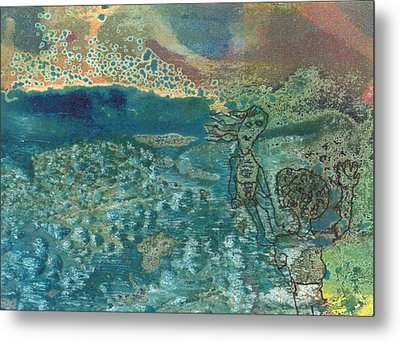 Metal Print featuring the mixed media Beach Friends Flotsam And Jetsam by Catherine Redmayne