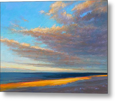 Beach Front Metal Print by Ed Chesnovitch