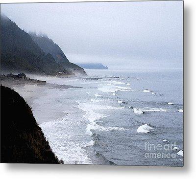 Beach Frontage In Monet Metal Print