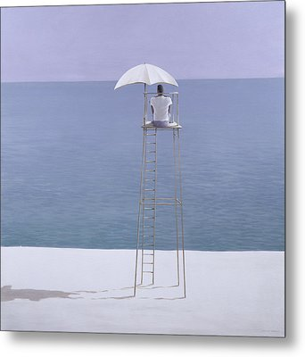 Beach Guard Metal Print