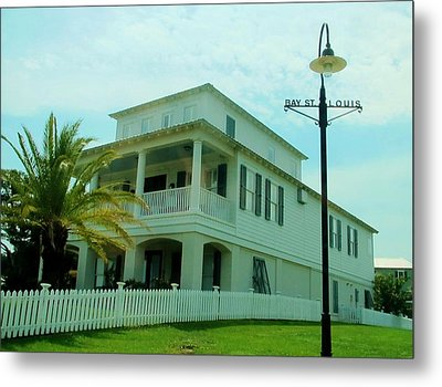 Beach House - Bay Saint Louis Mississippi Metal Print