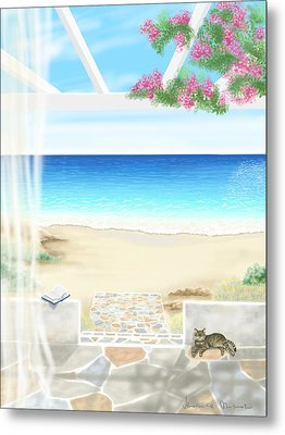Beach House Metal Print by Veronica Minozzi