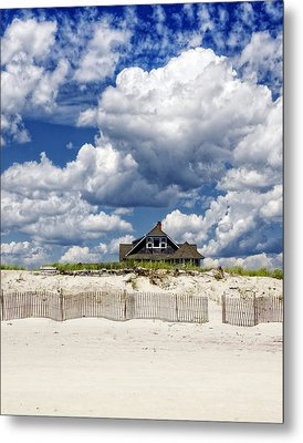 Beach House Metal Print by Vicki Jauron