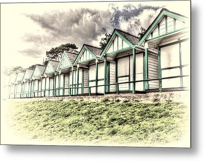 Beach Huts 4 Metal Print by Steve Purnell