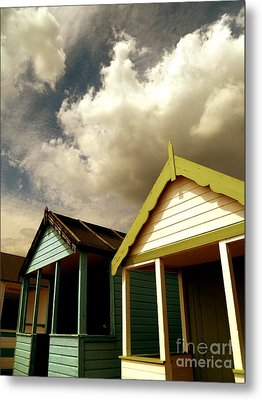 Beach Huts Metal Print by Vicki Spindler