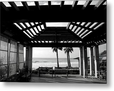 Beach In Del Mar California Metal Print by Julia Hiebaum