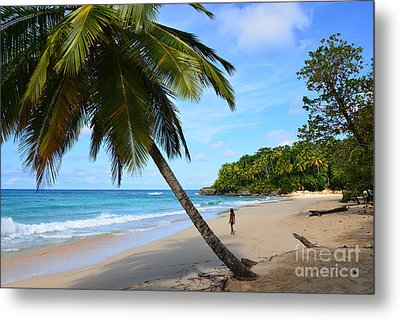 Metal Print featuring the photograph Beach In Dominican Republic by Jola Martysz