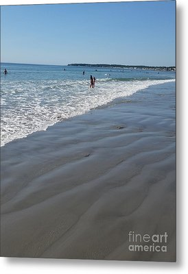 Metal Print featuring the photograph beach in Maine by Rose Wang