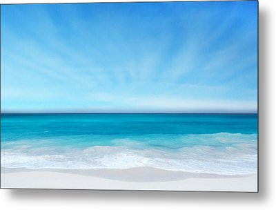 Beach In The Morning Metal Print by Nina Bradica