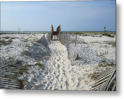 Metal Print featuring the photograph Beach by Jon Emery