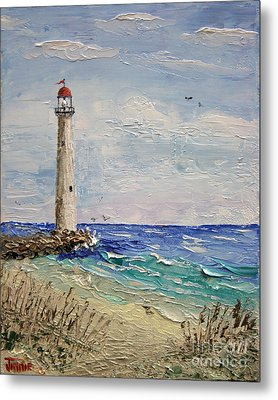 Beach Lighthouse Metal Print
