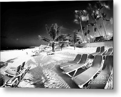 Beach Lounging Metal Print by John Rizzuto