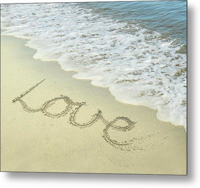 Beach Love Metal Print by Jocelyn Friis