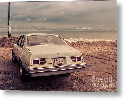Beach Memories Salisbury Beach Ma Metal Print by Edward Fielding