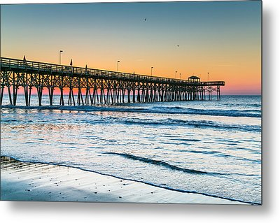 Beach Morning Metal Print