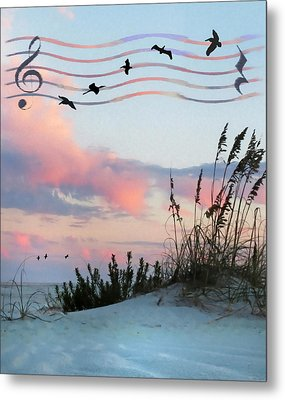 Beach Music Metal Print