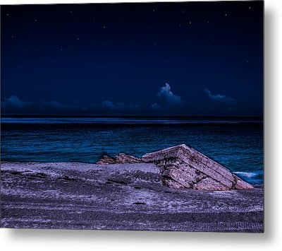 Metal Print featuring the photograph Beach Night by Randy Sylvia