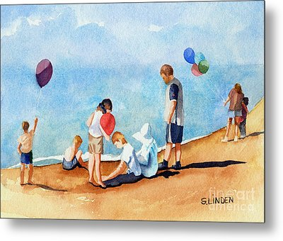 Beach Party Metal Print by Sandy Linden