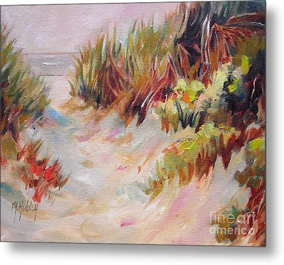 Beach Path Through The Dunes Metal Print by Mary Hubley
