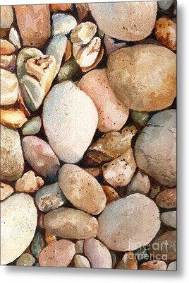 Beach Rocks Metal Print by Andrea Timm