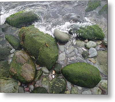 Metal Print featuring the photograph Beach Rocks by Robert Nickologianis
