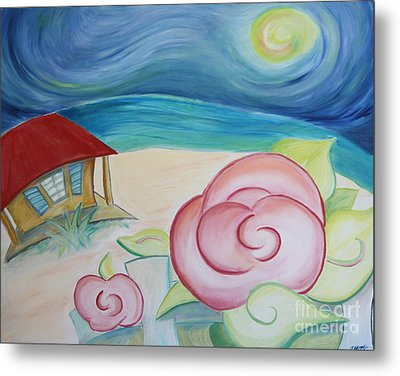 Beach Rose Metal Print by Teresa Hutto