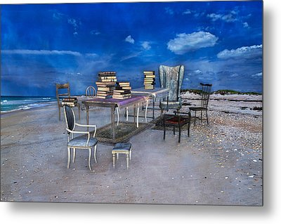 Beach Scholar  Metal Print by Betsy Knapp