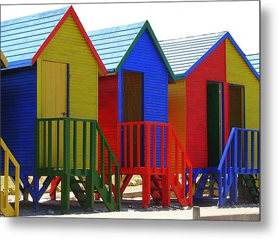 Beach Shacks Metal Print by Ramona Johnston
