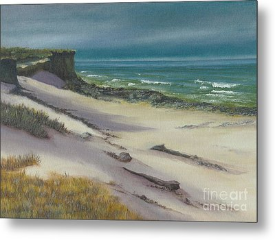 Metal Print featuring the painting Beach Shadows by Jeanette French
