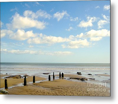Beach Skies Metal Print by Suzanne Oesterling