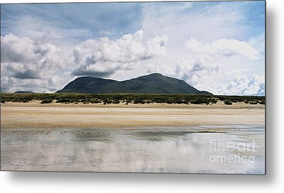 Metal Print featuring the photograph Beach Sky And Mountains by Rebecca Harman