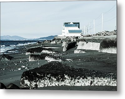 Beach Slabs Metal Print
