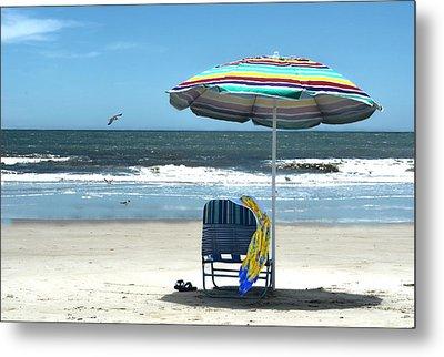 Beach Solitude Metal Print by Sandi OReilly