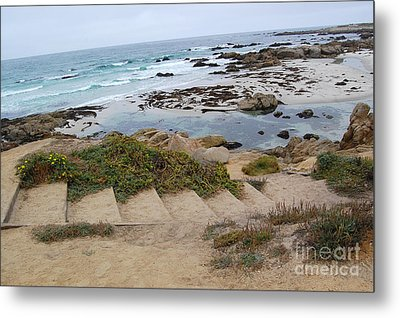 Metal Print featuring the photograph Descending To The Beach Monterey by Debra Thompson