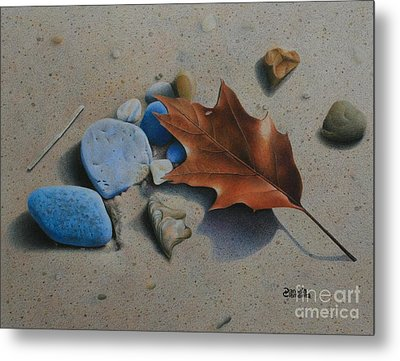 Metal Print featuring the painting Beach Still Life II by Pamela Clements