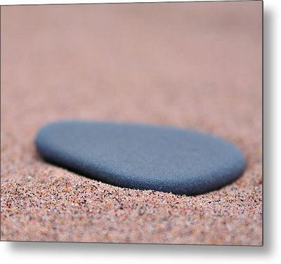 Beach Stone At Park Point Minnesota Metal Print