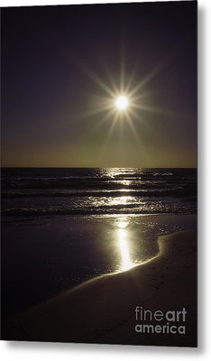 Beach Sun 2 Metal Print by Walt Foegelle