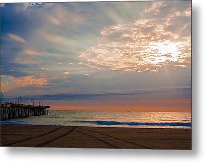 Beach Sunrise Surprise Metal Print