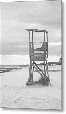 Beach Throne Harwich Ma Bw I Metal Print