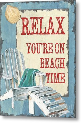 Beach Time 1 Metal Print