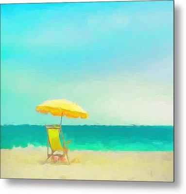 Metal Print featuring the painting Got Beach? by Douglas MooreZart