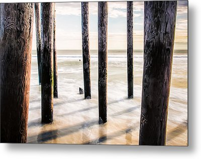 Beach Totems Metal Print by Steve Stanger