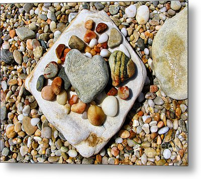 Beach Treasures Metal Print by Daliana Pacuraru