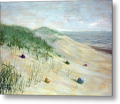 Metal Print featuring the mixed media Beach Treasures by Kenny Henson